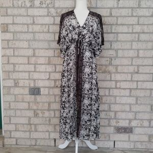 Free People Cold Shoulder Maxi Dress - Size Small